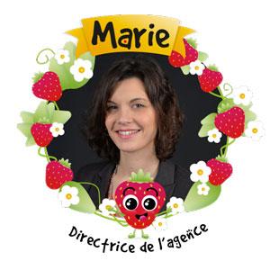 Marie, directrice de l'agence Graines de Fraise de Sainte-Geneviève-des-Bois