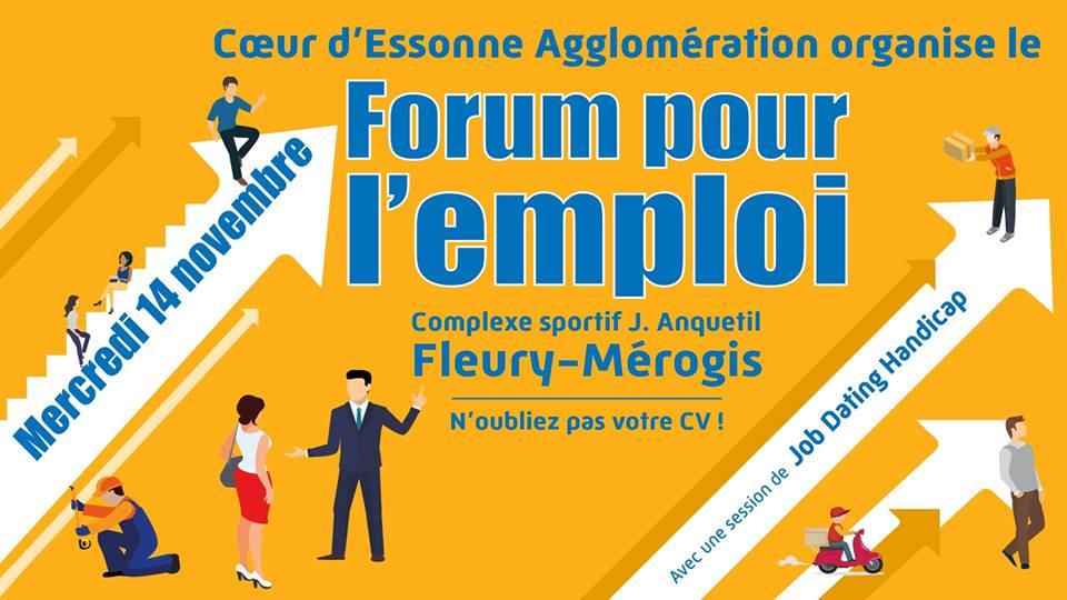 Retrouvez-nous au forum pour l'emploi de Fleury-Mérogis le 14 novembre 2018