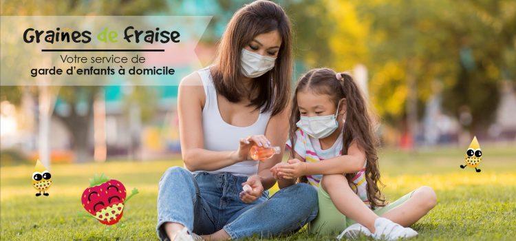 La garde des enfants à domicile fait partie des activités autorisées.