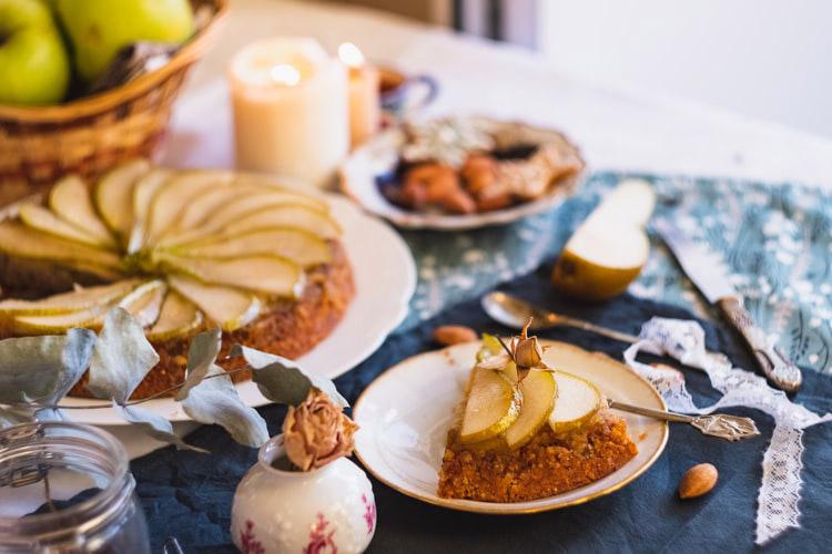 Recette de La tarte aux poires et aux amandes
